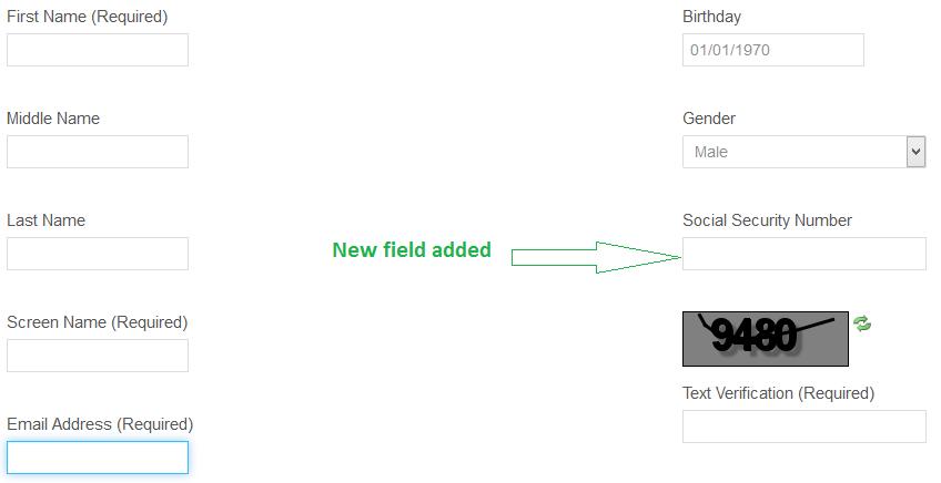 New field added