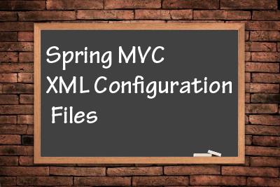 spring-mvc-xml-configuration-files
