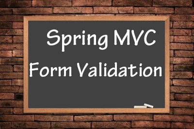 spring-mvc-form-validation